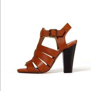Steve Madden Madysin Cognac Lea Sandal Heels